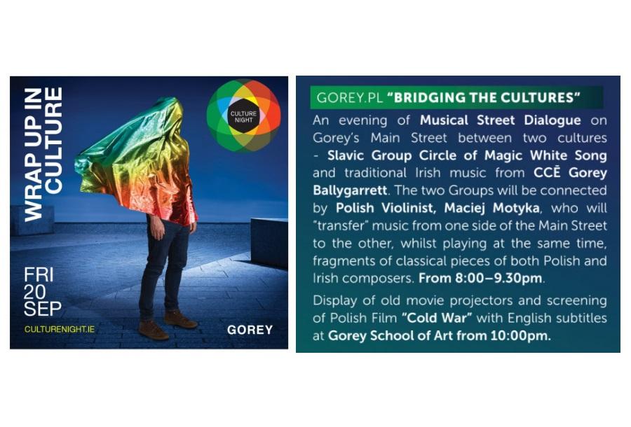 Culture Night w Gorey już 20 Września 2019. Gorey.pl przygotowało mocny Polski akcent