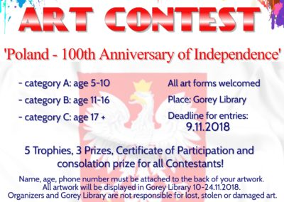 ART CONTEST 'Poland – 100 years of Independence'