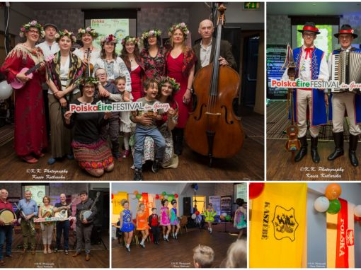 Fun in folk rhythms, Irish-Polish folk night, PolskaÉire Festival 2019 in Gorey.
