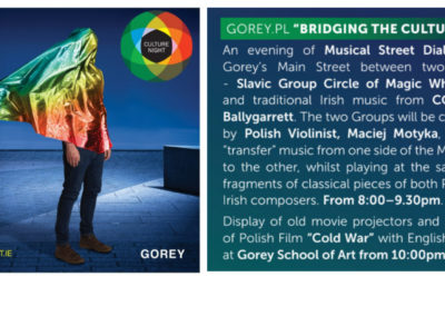 Strong Polish accents during Culture Night in Gorey on the 20th of September prepared by Polish Cultural Association – Gorey.pl